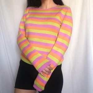Early 2000's colorful striped sweater